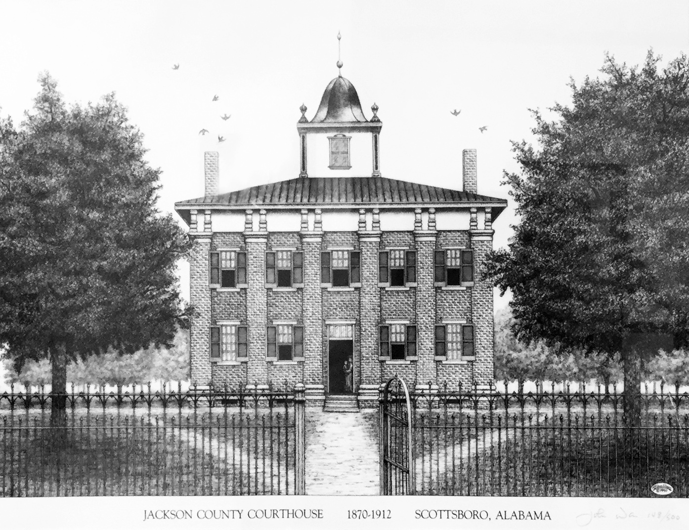 Alabama jackson county section - Courthouse Drawing Based On This Photo By John Warr